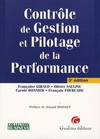Françoise Giraud et Olivier Saulpic - Contrôle de Gestion et Pilotage de la Performance.