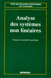 Françoise Lamnabhi-Lagarrigue - Analyse des systèmes non linéaires.