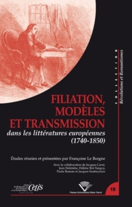 Accentsonline.fr Filiation, modèles et transmission dans les littératures européennes (1740-1850) Image