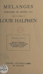 Françoise Lehoux - Quelques précisions à propos de la condamnation de Bellometto Turelli, mercier lucquois.