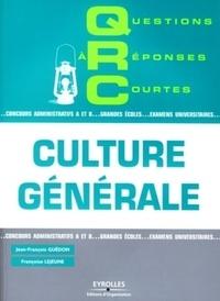 Françoise Lejeune et Jean-François Guédon - QRC de culture générale.