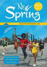 Françoise Lemarchand et Kathleen Julié - New Spring Anglais 4e LV2 Palier 1 - A1-A2 grands débutants. 1 CD audio