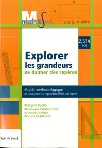 Deedr.fr Explorer les grandeurs, se donner des repères 2,5/14 ans - Guide méthodologique et documents reproductibles en ligne Image