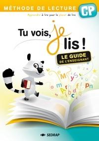 Françoise Monier-Roland et Claudine Barou-Fret - Tu vois, je lis ! CP - Le guide de l'enseignant.