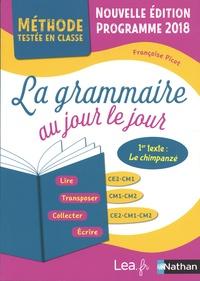 Françoise Picot - La grammaire au jour le jour CE2-CM1, CM1-CM2, CE2-CM1-CM2 - Programme 2018.