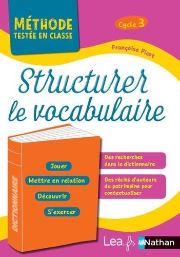 Structurer le vocabulaire Cycle 3. Programme 2016