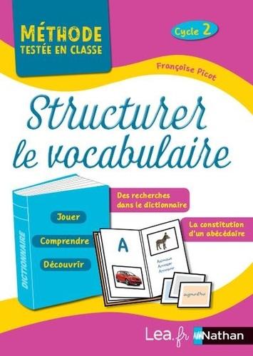 Françoise Picot - Structurer le vocabulaire - Cycle 2, programme 2018.