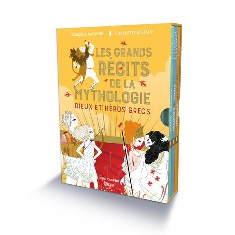 Françoise Rachmuhl et Charlotte Gastaut - Dieux et héros grecs - Coffret en 3 volumes : Dieux & déesses de la mythologie grecque ; Héroïnes & héros de la mythologie grecque ; Hercule, les 12 travaux.