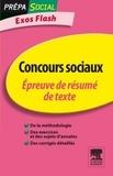 Françoise Rouard et Béatrice Peluau - Concours sociaux - Epreuve de résumé de texte.