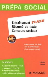 Entraînement flash résumé de texte concours sociaux - Françoise Rouard |