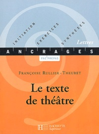 Françoise Rullier-Theuret - Le texte de théâtre.