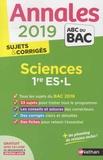 Françoise Saintpierre et Nicolas Coppens - Sciences 1re ES-L - Sujets & corrigés.