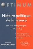 Françoise Taliano-Des Garets - Histoire politique de la France - IIIe, IVe et Ve Républiques (1870-2010).