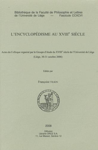L'encyclopédisme au XVIIIe siècle