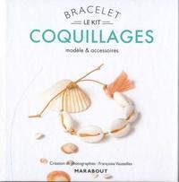 Françoise Vauzeilles - Bracelet coquillage - Modèle et accessoires. Avec 5 coquillages, 1 pompon, 40 cm de coton ciré, et 1 livre d'explications.