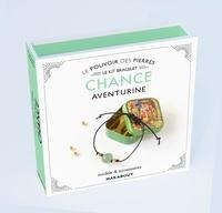 Françoise Vauzeilles - Le pouvoir des pierres Chance Aventurine - Modèle & accessoires. Avec 1 perle ronde en aventurine naturelle, 2 petites perles dorées, 70 cm de coton ciré, 1 livre d'explications.