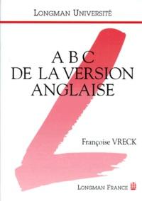 Françoise Vreck - ABC de la version anglaise.