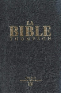 Frank-Charles Thompson - Bible Thompson NBS souple luxe vynil, noire.
