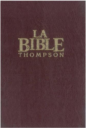 "Frank-Charles Thompson - Bible Thompson rigide, marron ""Colombe""."