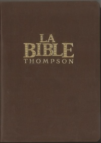 """Frank-Charles Thompson - Bible Thomson souple luxe vynil, marron """"Colombe""""."""