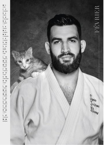 Le calendrier des judokas et des petits chats  Edition 2017