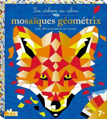 Fred Kucia - Mosaïques Géométrix avec 200 autocollants en mousse - Avec 2 tableaux à décorer, 6 planches de mosaïques autocollantes en mousse.