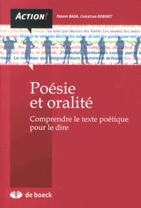 Poésie et oralité- Comprendre le texte poétique pour le dire - Freddy Bada |