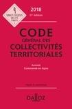 Frédéric Allaire et François Blanc - Code général des collectivités territoriales - Annoté, commenté en ligne.