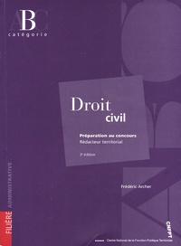 Frédéric Archer - Droit civil - Préparation au concours Rédacteur territorial.