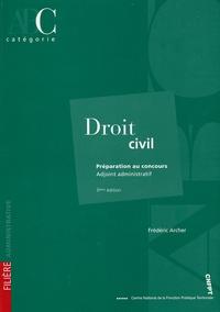 Frédéric Archer - Droit civil - Préparation au concours Adjoint administratif catégorie C.