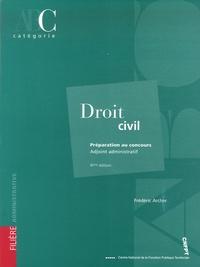 Frédéric Archer - Droit civil - Adjoint administratif catégorie C.