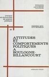 Frédéric Bon et Guy Michelat - Attitudes et comportements politiques à Boulogne-Billancourt - Enquête par panel. 1965-1967.