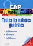 Frédéric Boutaine et Josiane Brin-Wiart - Objectif CAP - Toutes les matières générales.