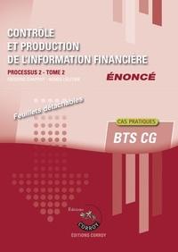 Ucareoutplacement.be Contrôle et production de l'information financière - Processus 2 Tome 1 du BTS CG. Enoncé Image