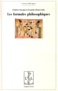 Frédéric Cossutta et Francine Cicurel - Les formules philosophiques - Détachement, circulation, recontextualisation.
