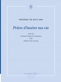 Frédéric de Boccard - Prière d'insérer ma vie.