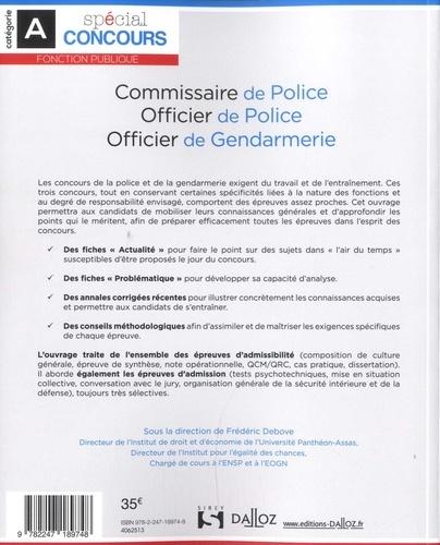 Commissaire de police, officier de police, officier de gendarmerie 8e édition