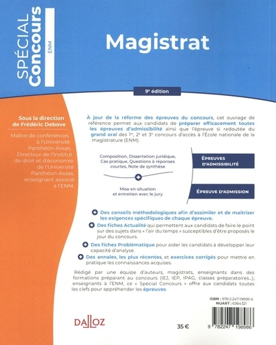 Magistrat 9e édition