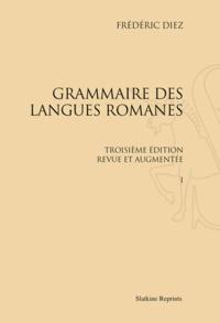 Satt2018.fr Coffret Grammaire des langues romanes en 3 volumes - Réimpression de l'édition de Paris (1874-1876) Image