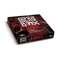 Frédéric Dorne et Mathieu Coudray - Escape box zombie - Contient : 3 livrets, 131 cartes, 1 bande-son d'une heure, 1 poster, 6 badges.