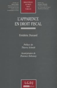 Frédéric Durand - L'apparence en droit fiscal.
