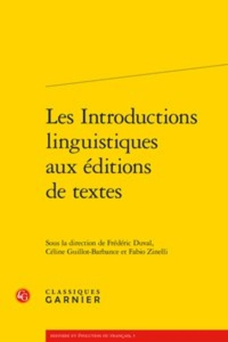 Les introductions linguistiques aux éditions de textes