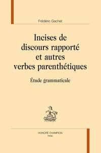 Deedr.fr Incises de discours rapporté et autres verbes parenthétiques - Etude grammaticale Image