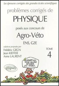 Lemememonde.fr Problèmes corrigés de Physique - Posés aux concours Agro-Véto ENS/G2E, Tome 4 Image