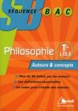 Frédéric Guillaud et Maël Lemoine - Philosophie Tle L, ES et S - Auteurs et concepts.
