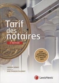 Frédéric Hébert - Tarif des notaires.