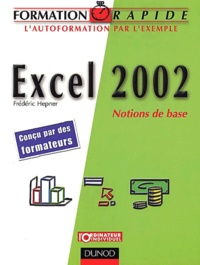 Frédéric Hepner - Excel 2002 - Notions de base.