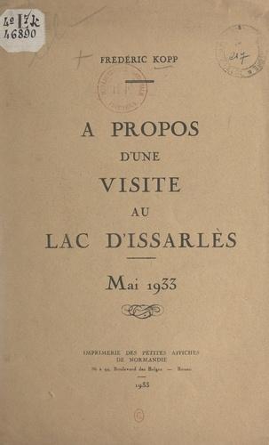 À propos d'une visite au lac d'Issarlès. Mai 1933
