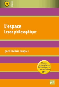 L'espace- Leçon philosophique - Frédéric Laupies pdf epub