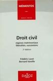 Frédéric Lucet et Bernard Vareille - Droit civil - Régimes matrimoniaux, libéralités, successions.